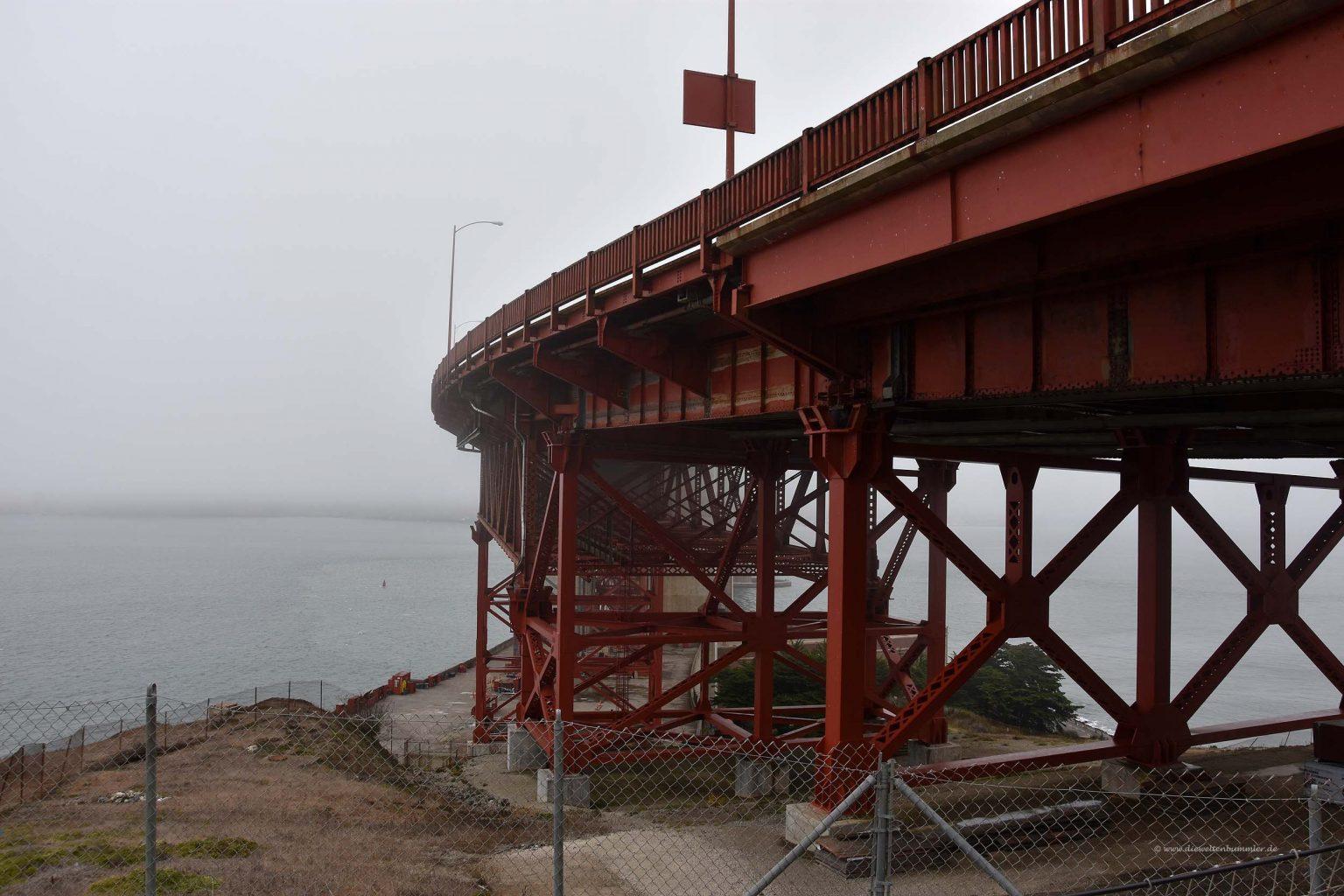 Golden Gate Bridge von unten