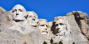 Die Präsidenten am Mount Rushmore