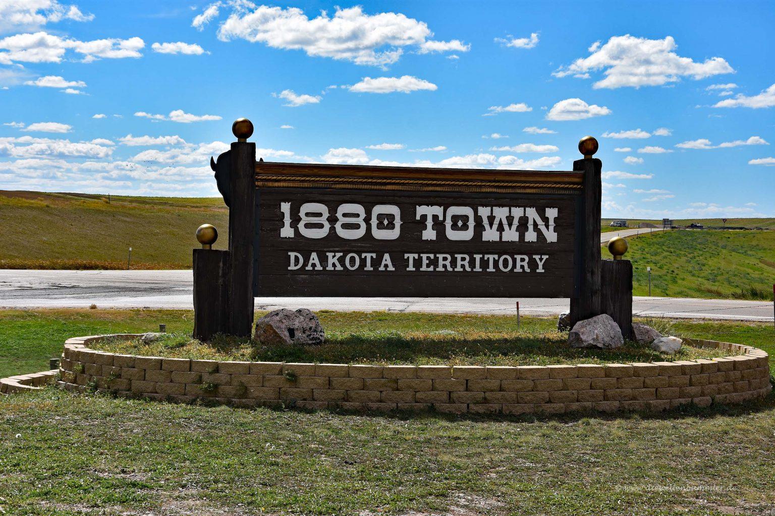 Eingang zur 1880 Town