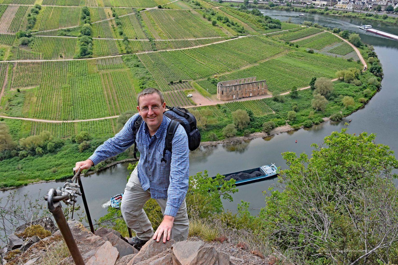 Michael Moll oberhalb der Mosel