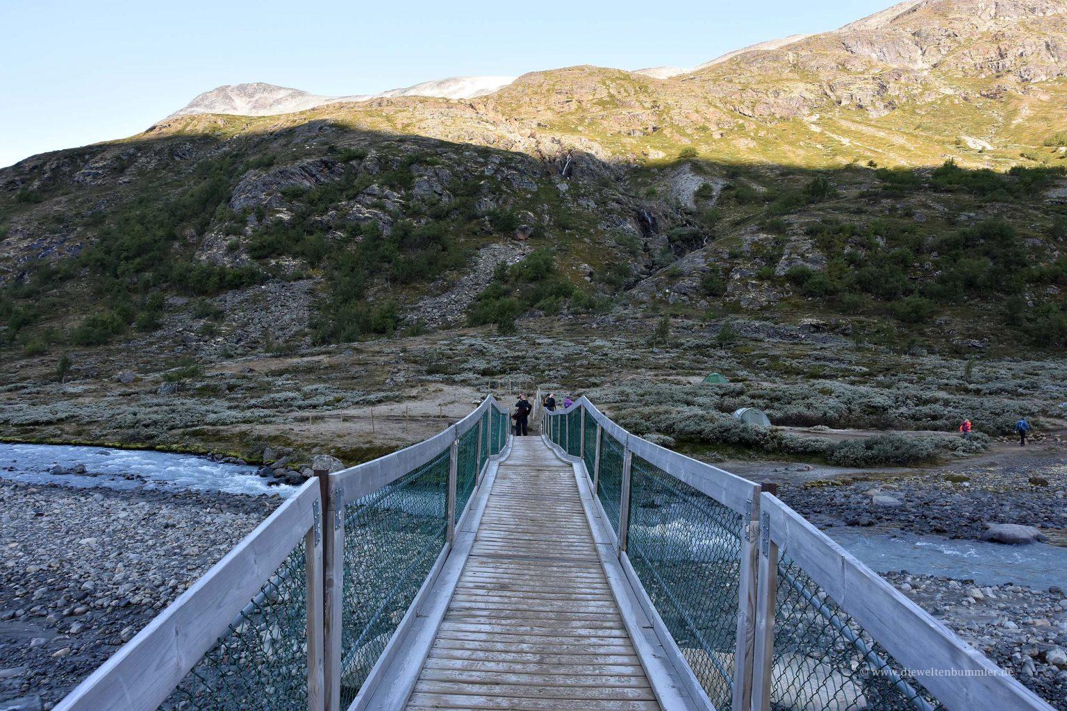 Brücke am Einstieg