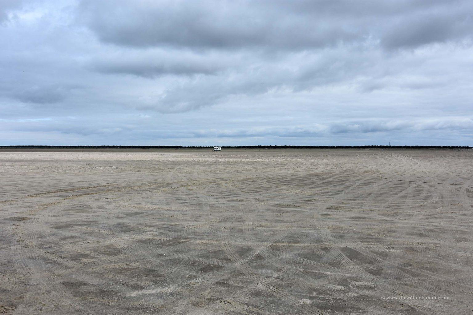 Der Strand kann mit dem Auto befahren werden