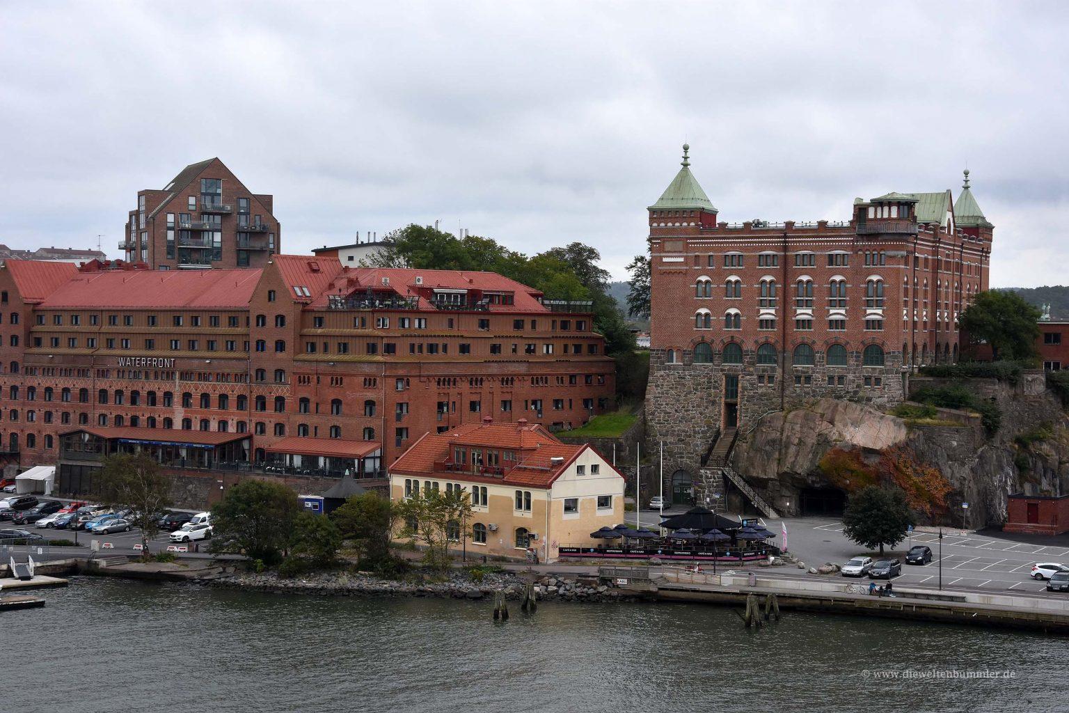 Blick von der Fähre auf Göteborg
