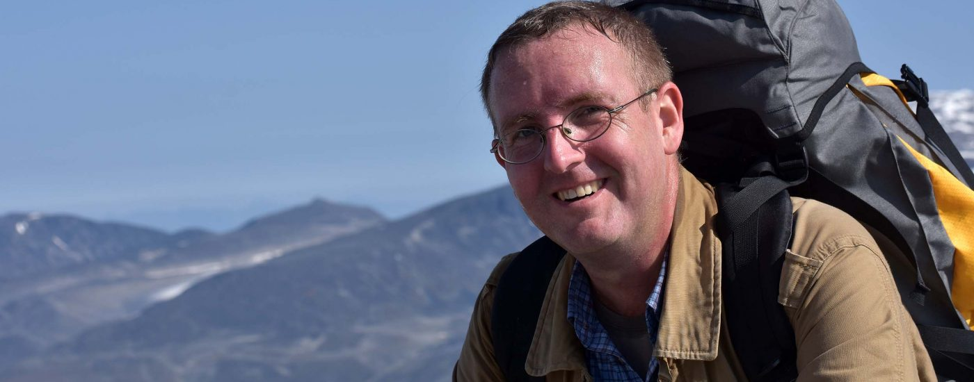 Michael Moll auf dem Galdhoppigen