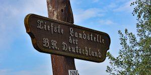 Tiefste Landstelle Deutschlands