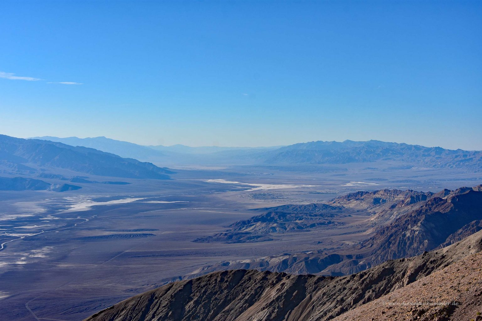 Nationalpark Death Valley von oben