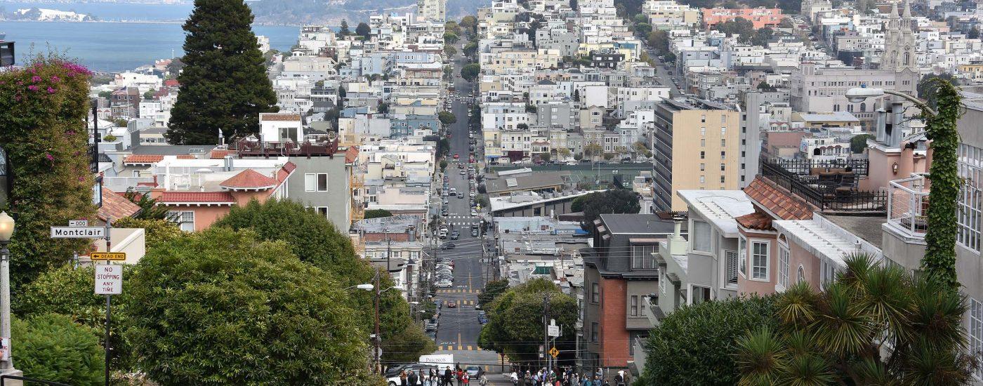 Ausblick von der Lombard Street