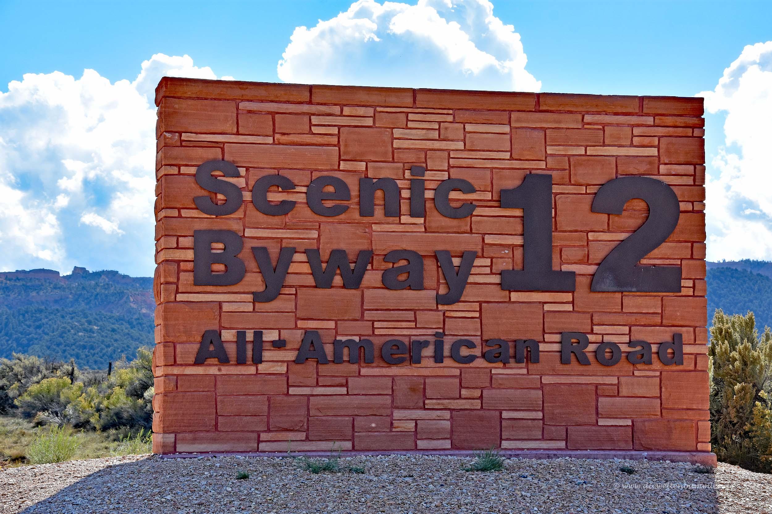 Beginn des Highway 12 in Utah