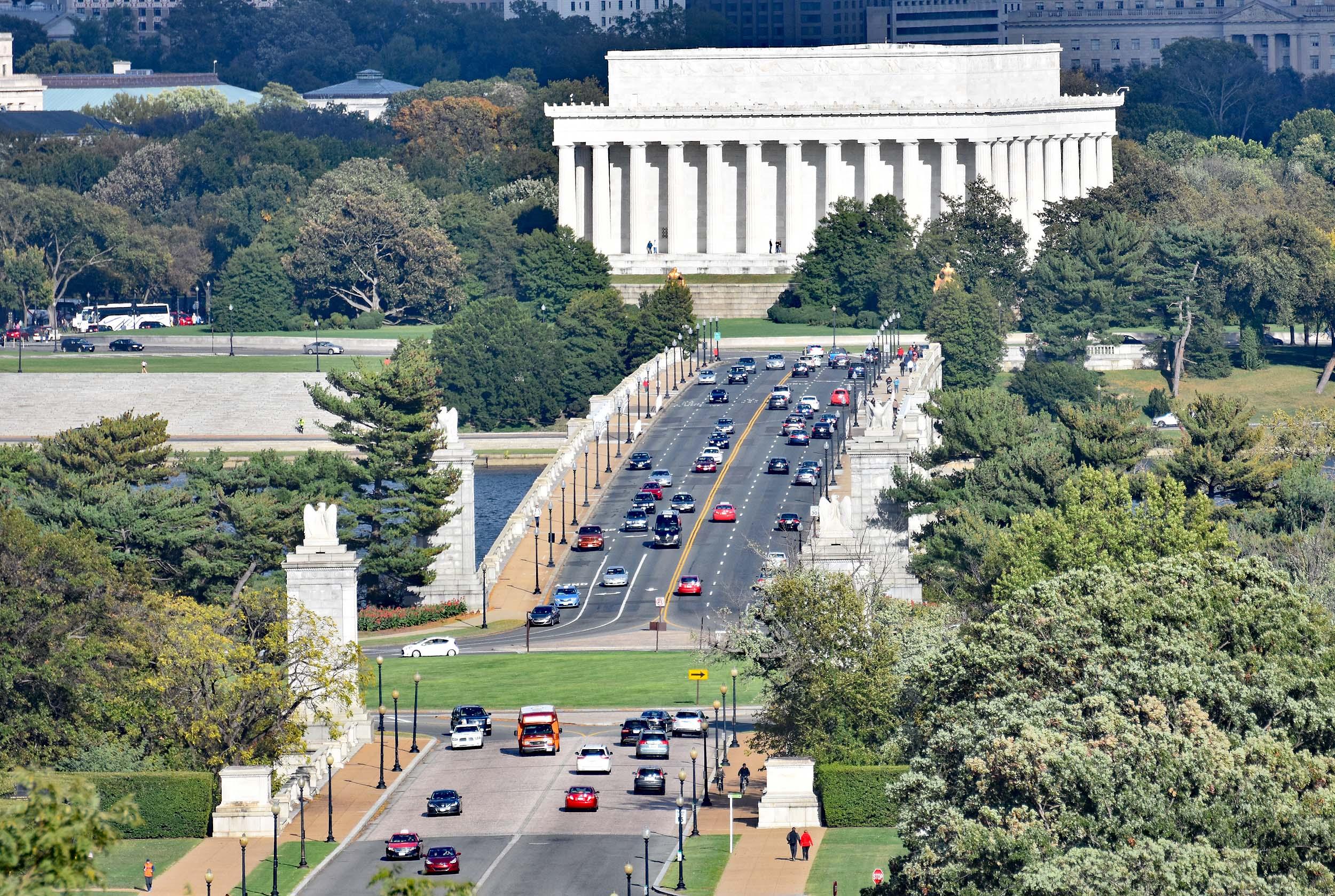 Brücke über den Potomac und das Lincoln Memorial