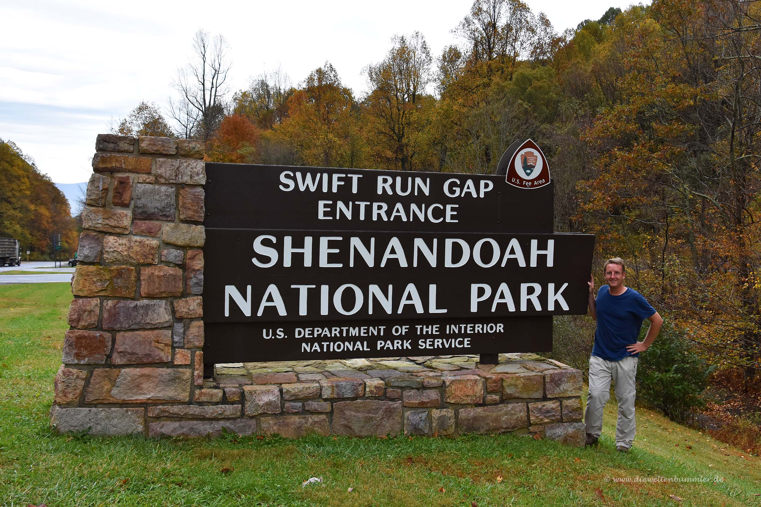 Einfahrt zum Nationalpark