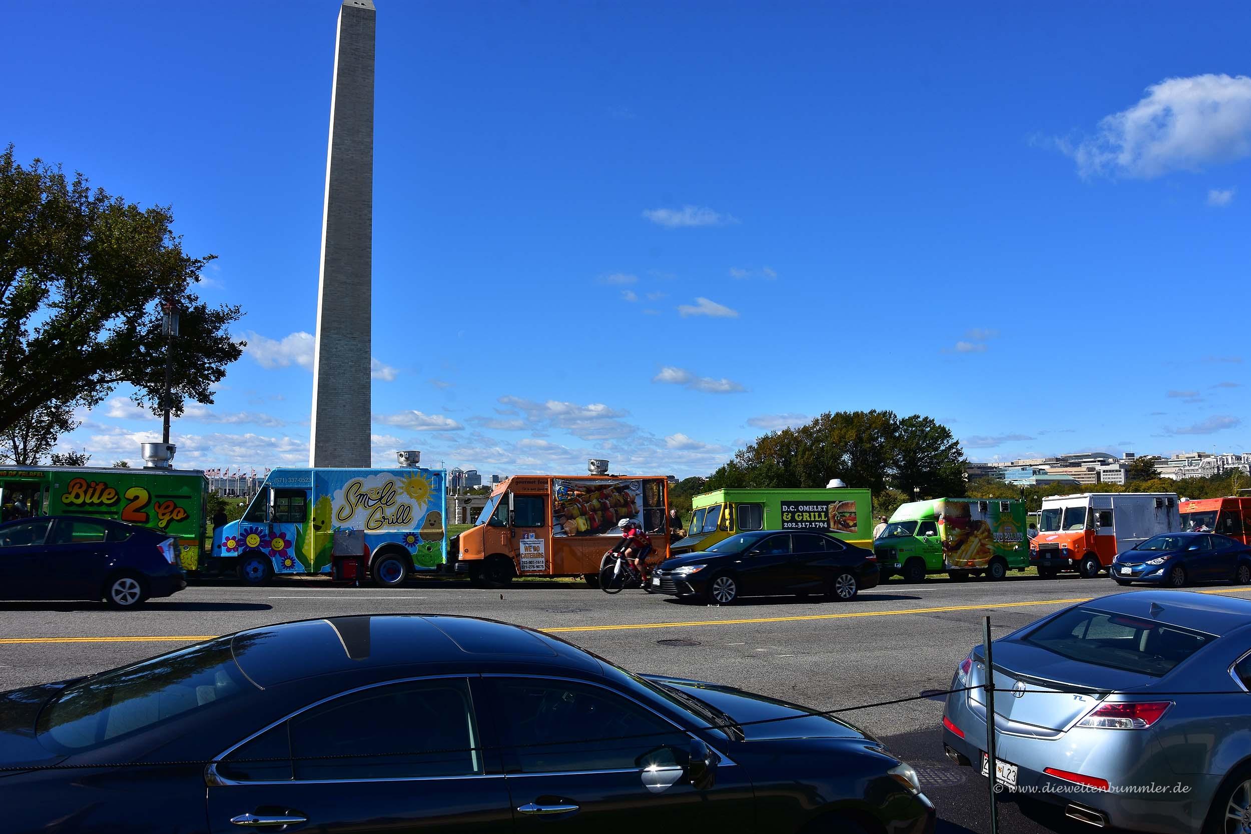Hot Dog-Stände am Washington Monument