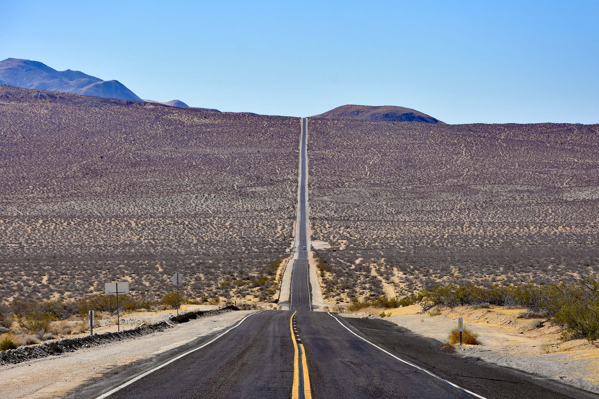 Lange Straße in Kalifornien