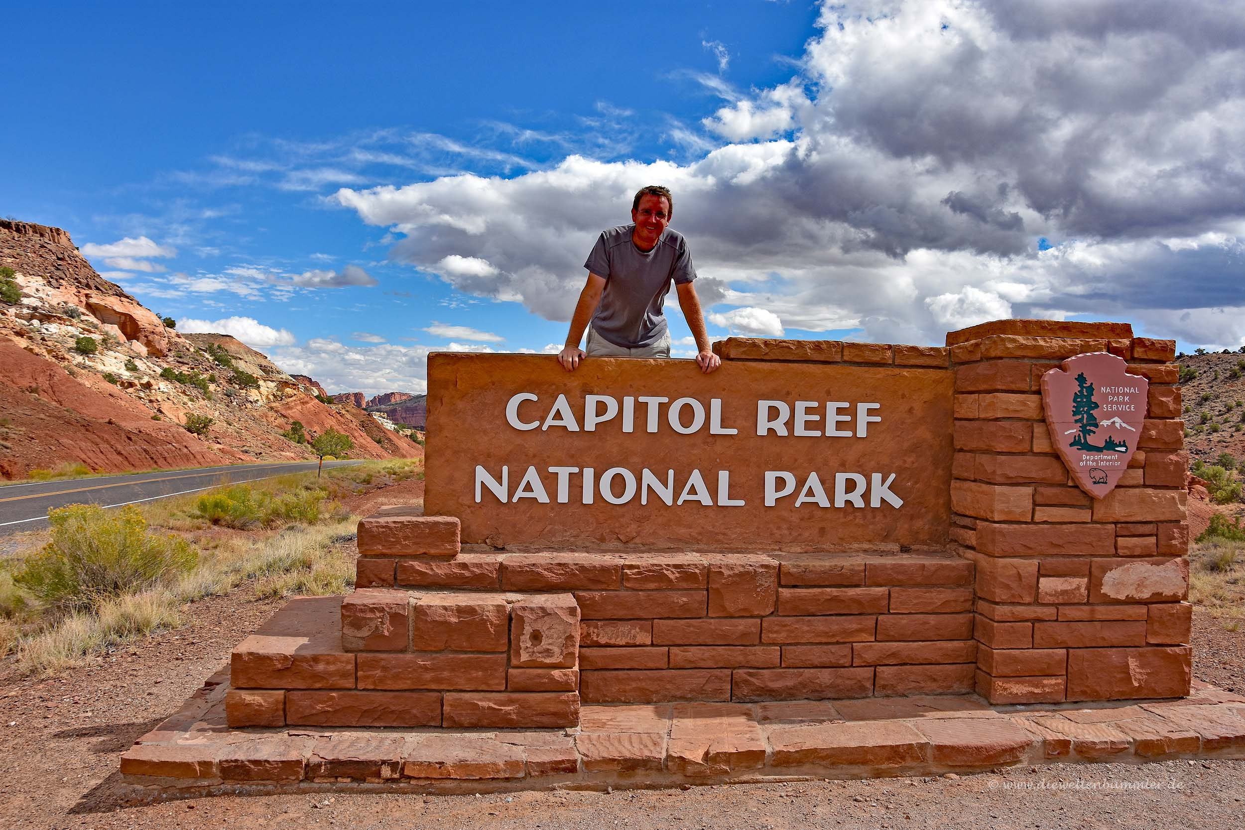 Michael Moll am Capitol Reef