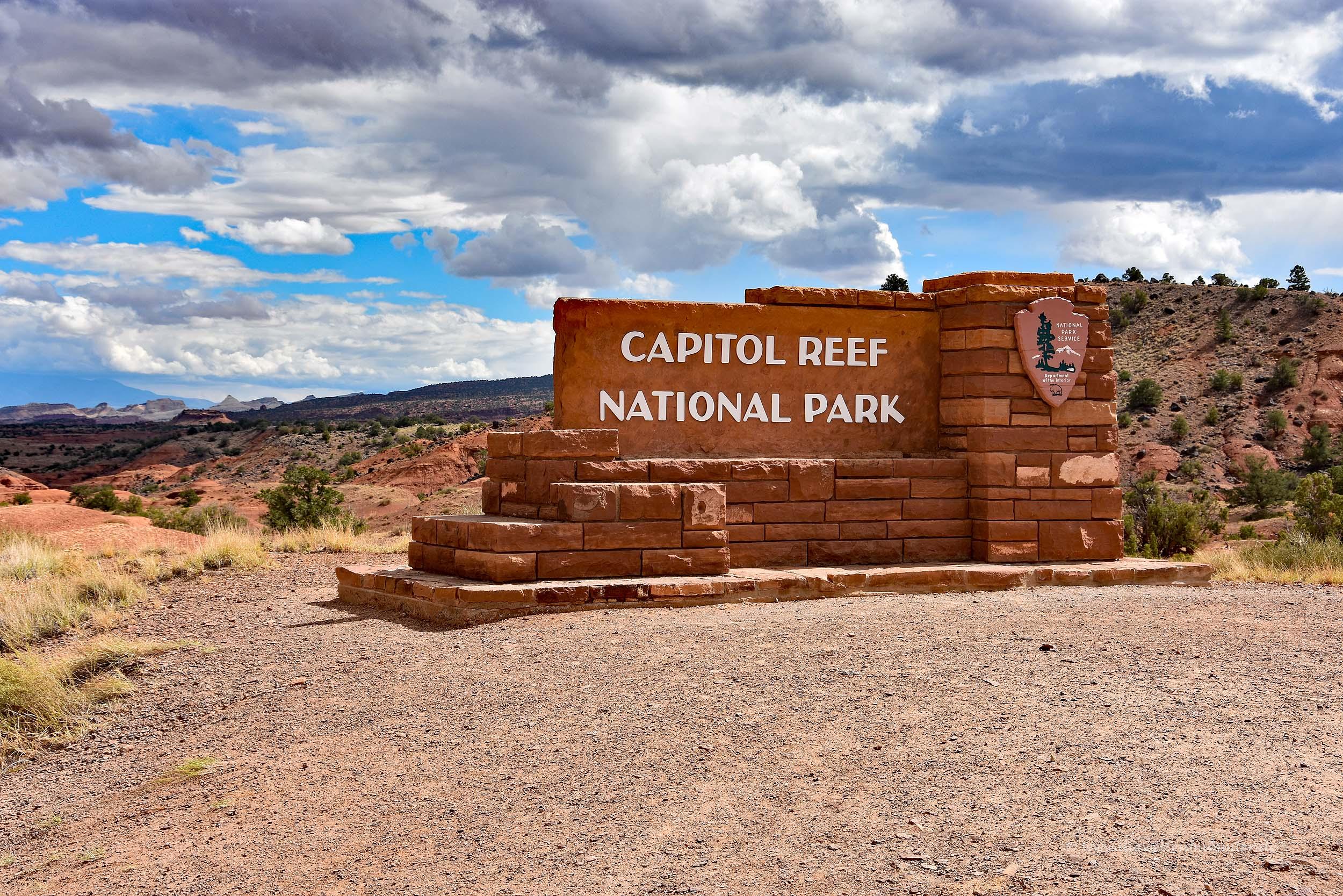 Zugang zum Capitol Reef Nationalpark