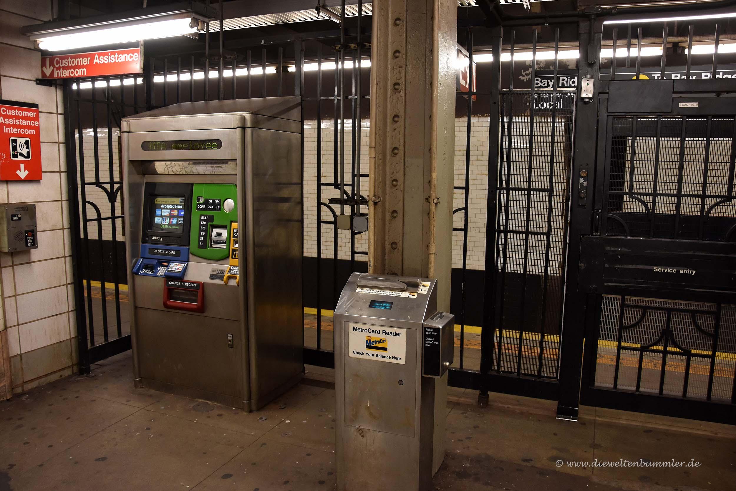 Fahrkartenautomat in Brooklyn
