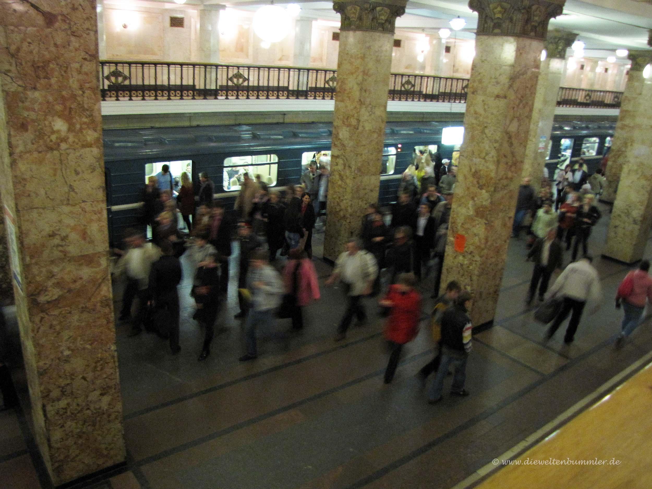 Bahnhof in Moskau