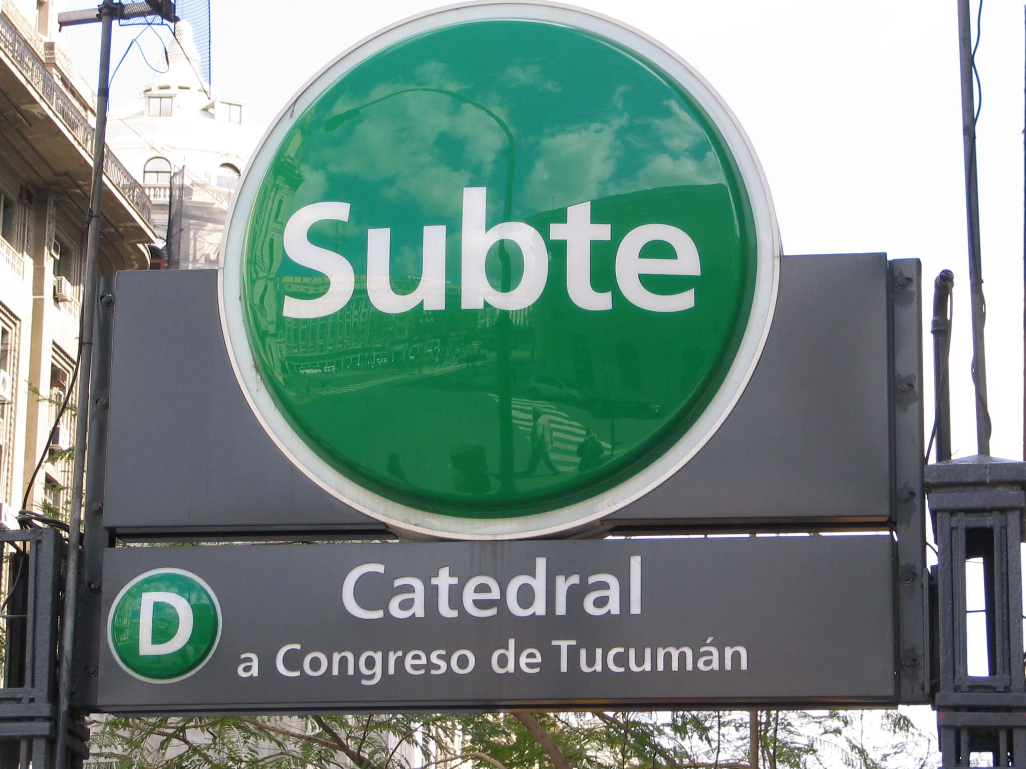 Metro-Zugang in Buenos Aires