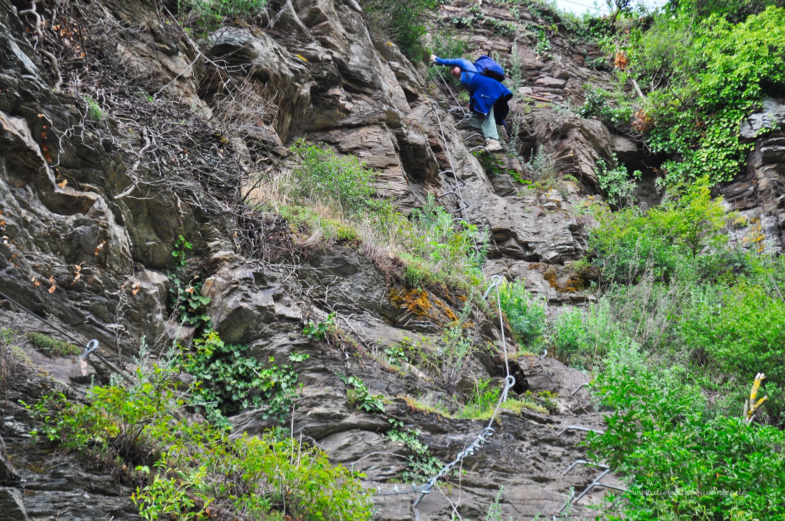 Klettersteig Mosel : Klettersteig bei zell an der mosel die weltenbummler