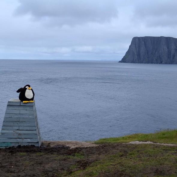 Mit Blick auf das Nordkap