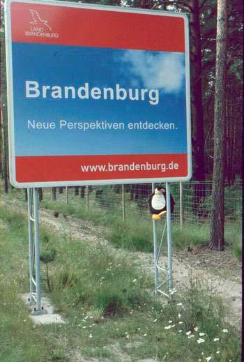 Schild bei Brandenburg