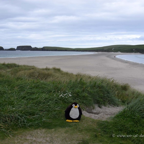 Tombolo auf den Shetland-Inseln