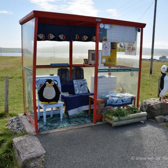 Unst Bus Shelter auf den Shetland-Inseln