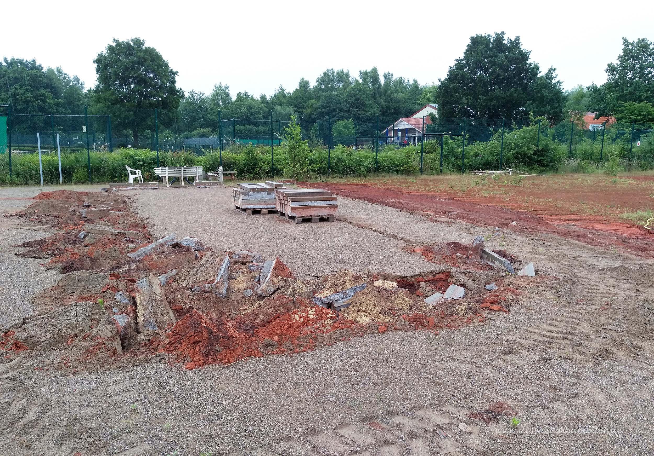 Der Bouleplatz wurde entfernt