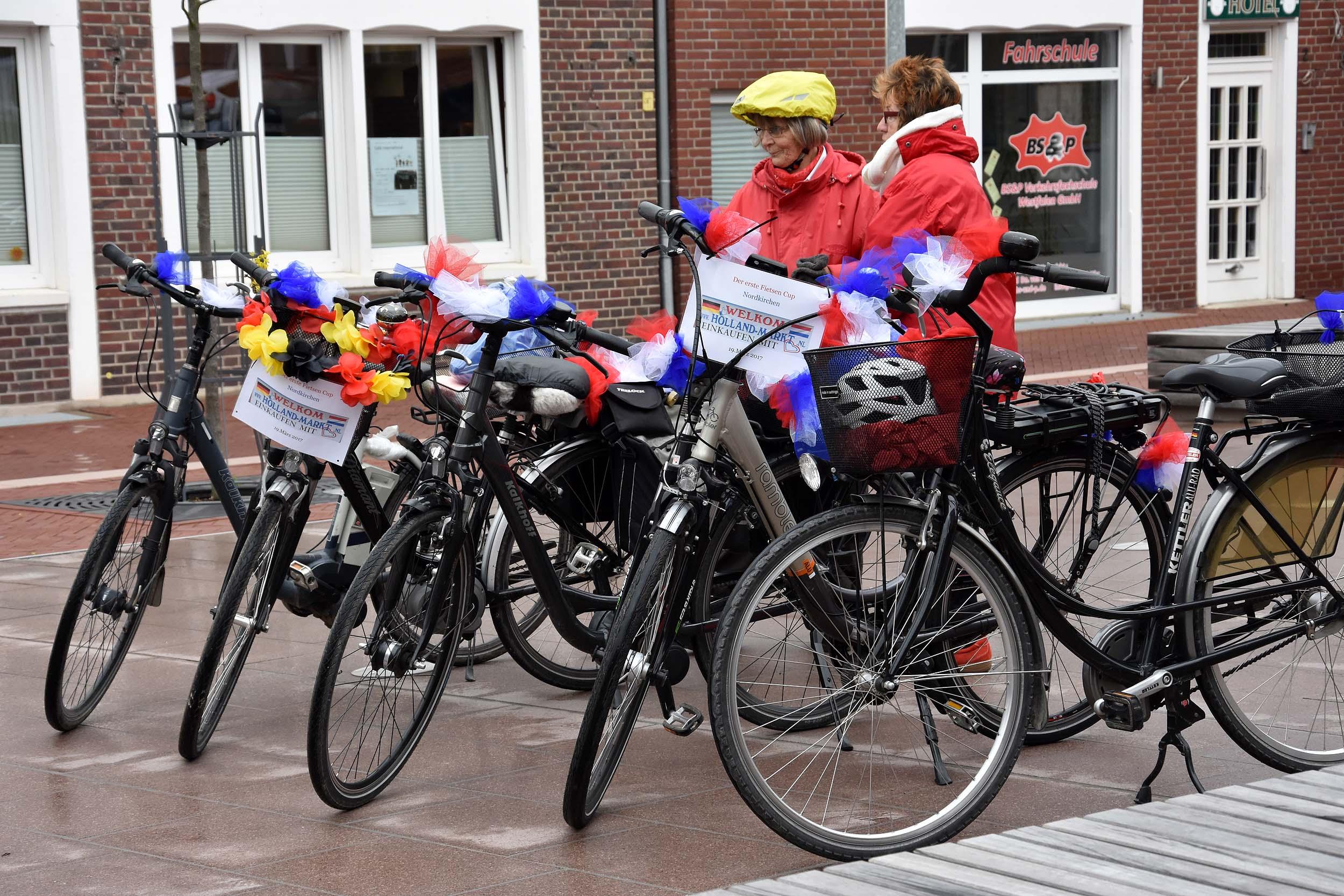 Geschmückte Fahrräder