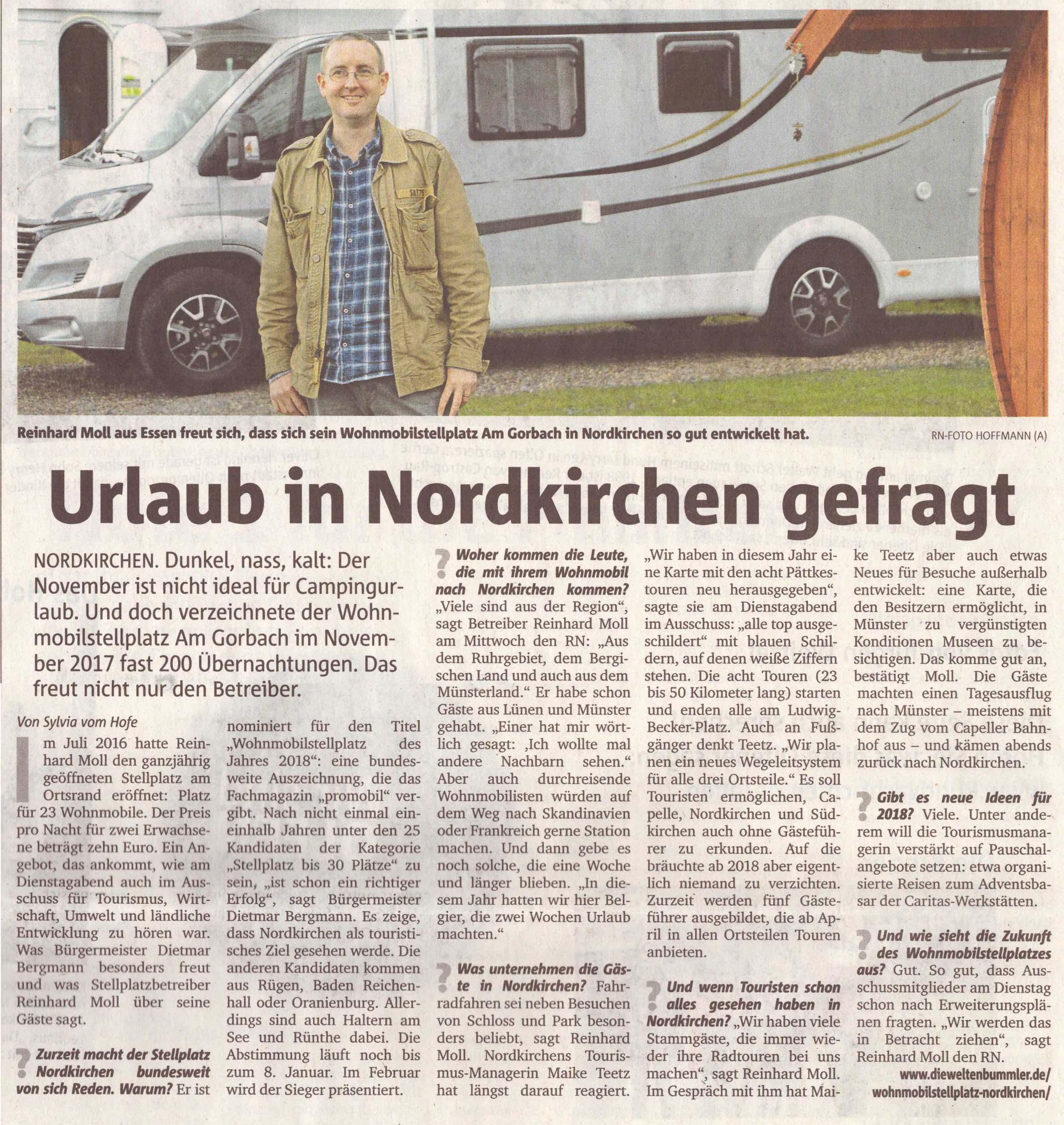 Ruhrnachrichten vom 8. Dezember 2017