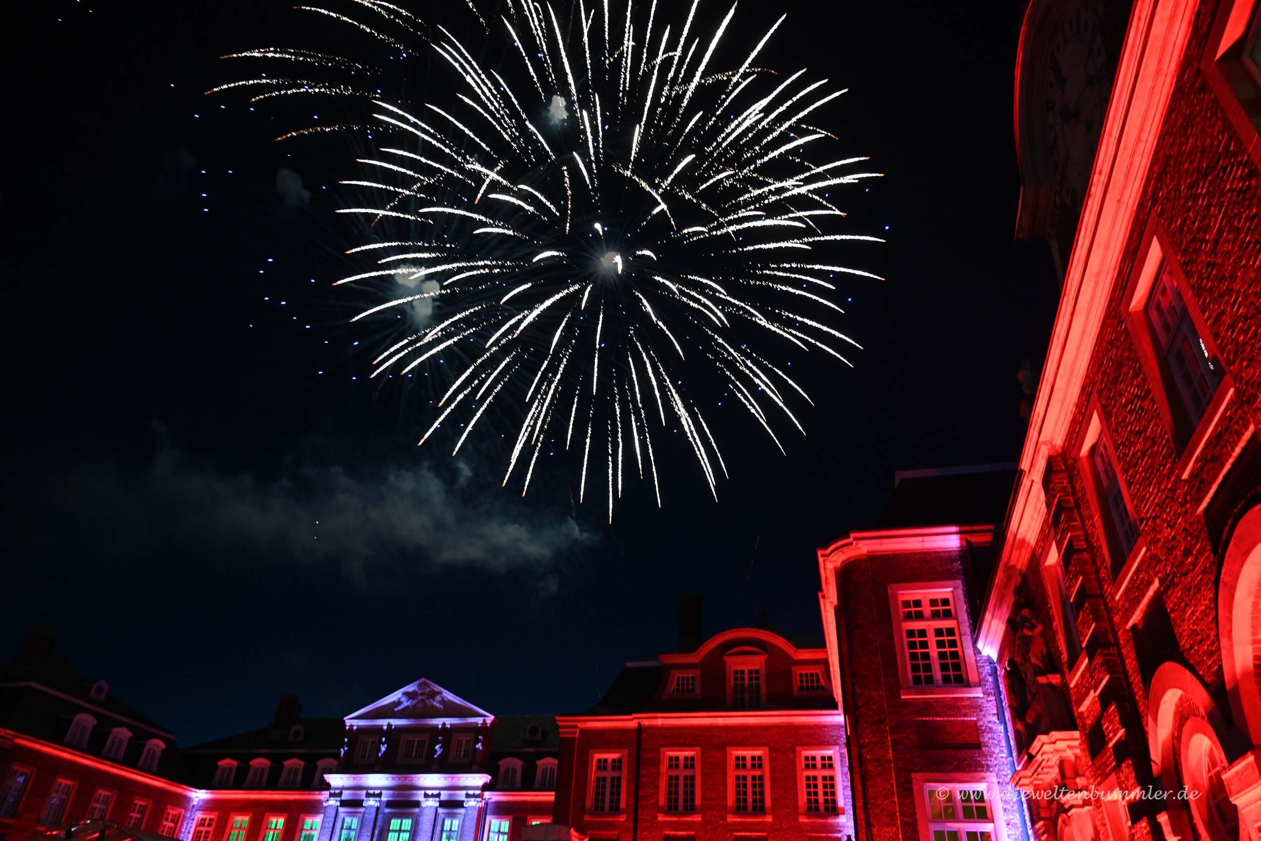 Feuerwerk am Schloss Nordkirchen