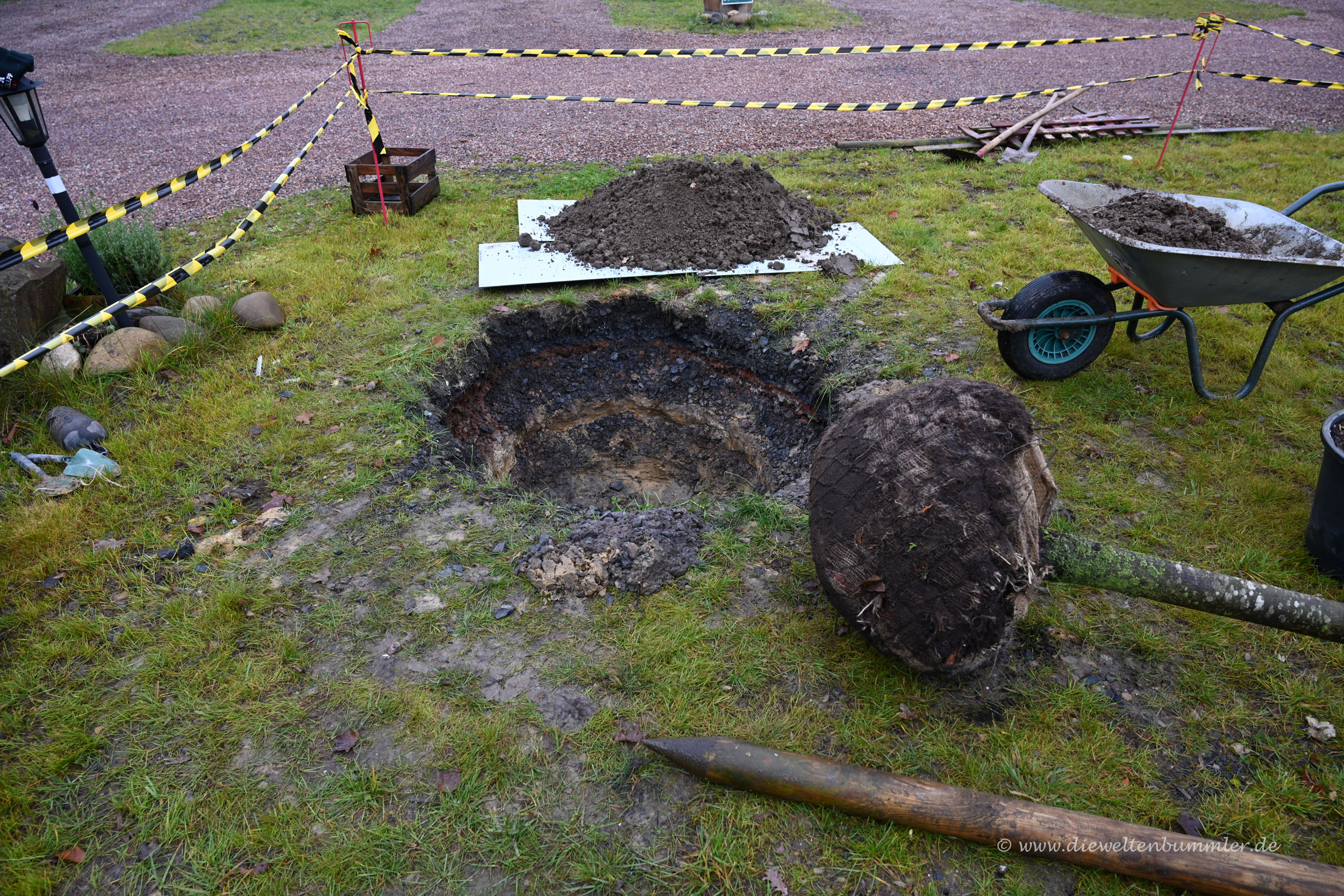 Das Loch für den Baum