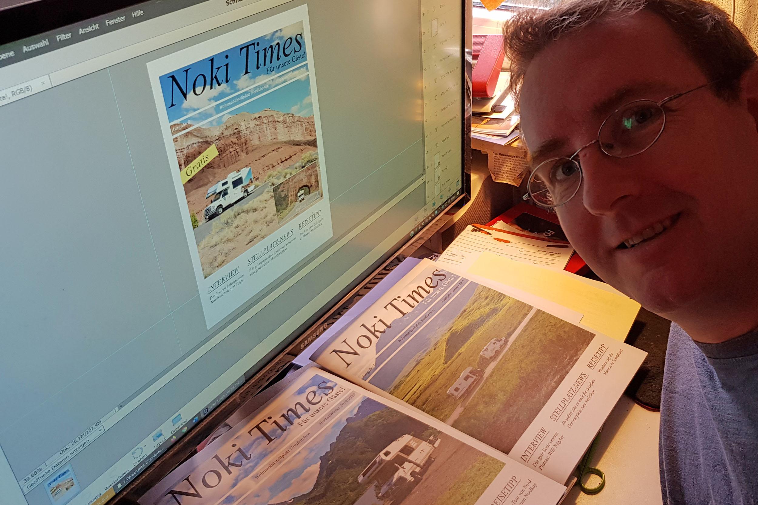 Bei der Erstellung der Noki Times