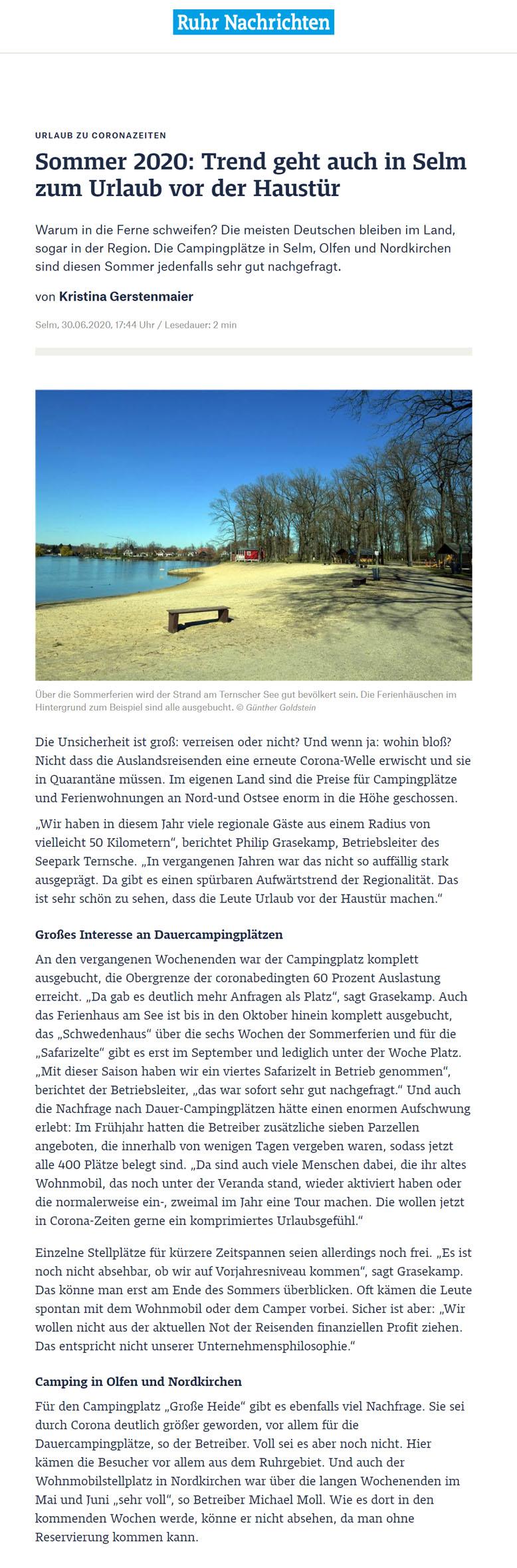 Ruhrnachrichten vom 30. Juni 2020