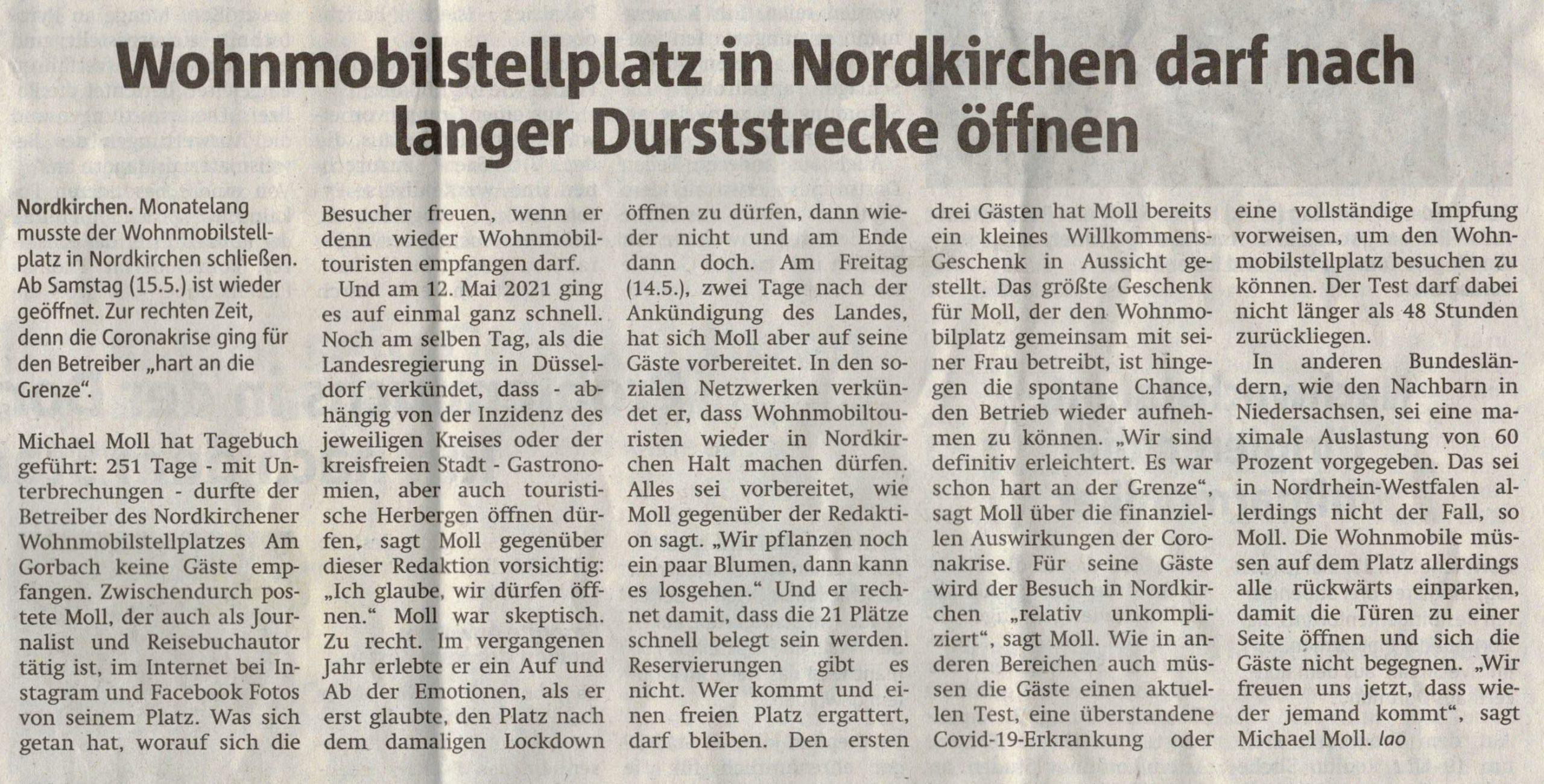 Ruhrnachrichten vom 15. Mai 2021
