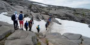 Wanderweg zum Kjeragbolten