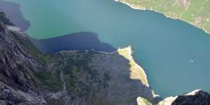 Blick hinab in den Lysefjord