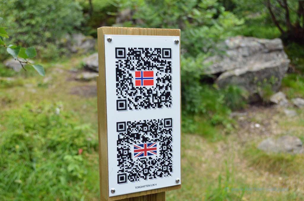 QR-Code am Wanderweg