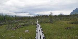 Holzsteg als Wanderweg