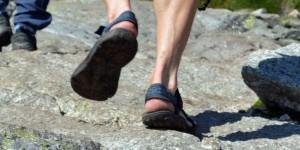 Wandern mit Sandalen