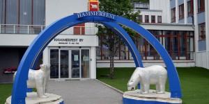 Eisbären vor dem Rathaus