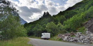 Wohnmobil im Geirangerfjord