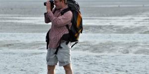 Michael Moll bei der Wattwanderung