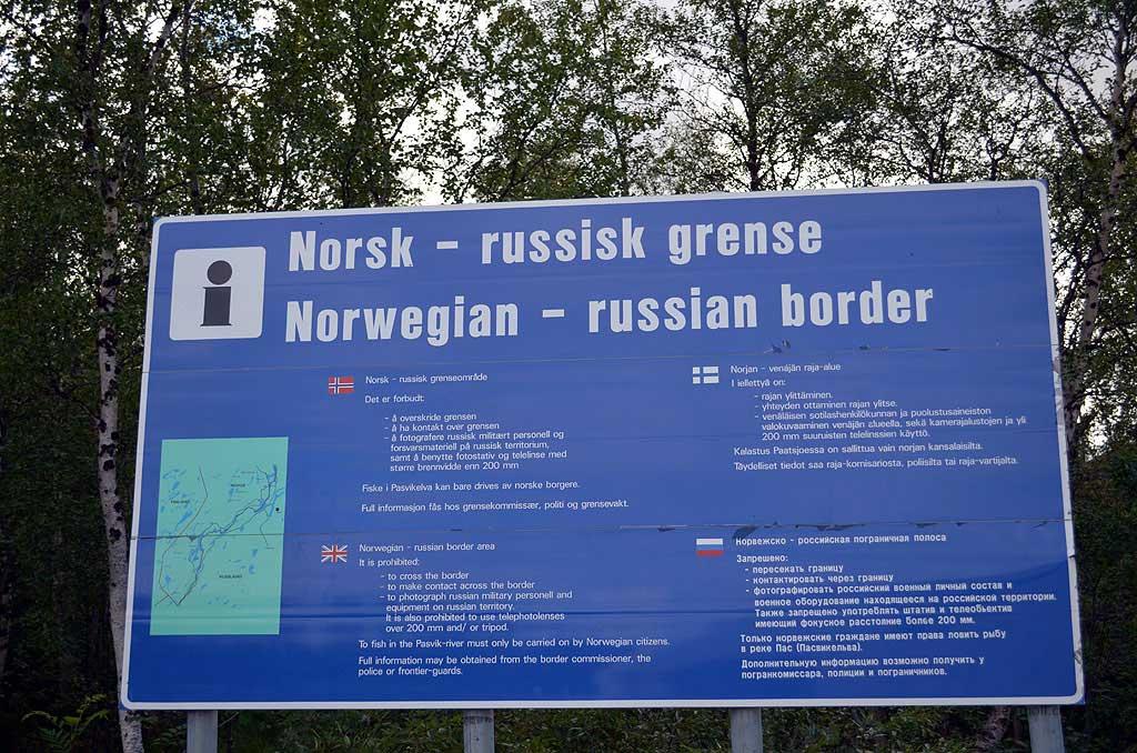 Grenzgebiet zu Russland