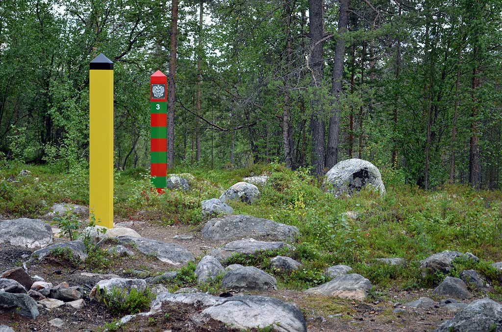 Grenze zwischen Norwegen und Russland
