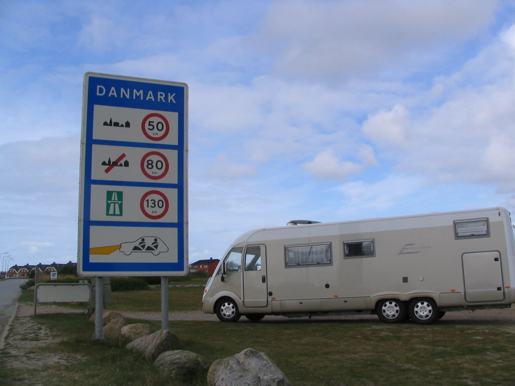 Grenzschild Dänemark
