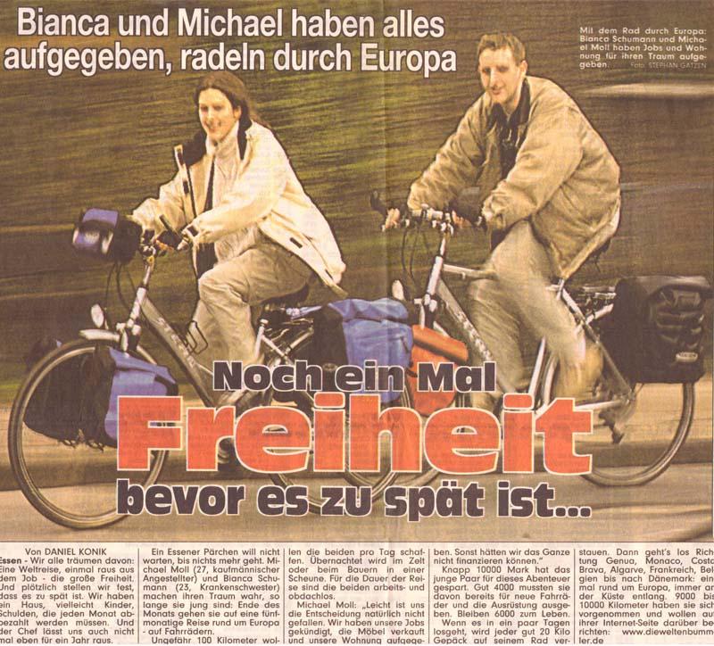 BILD-Zeitung vom 17. April 2001