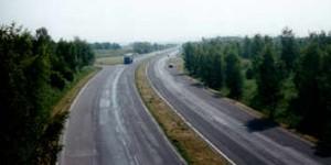 Radeln auf tschechischer Autobahn