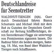 Badische Zeitung vom 17. Mai 2002