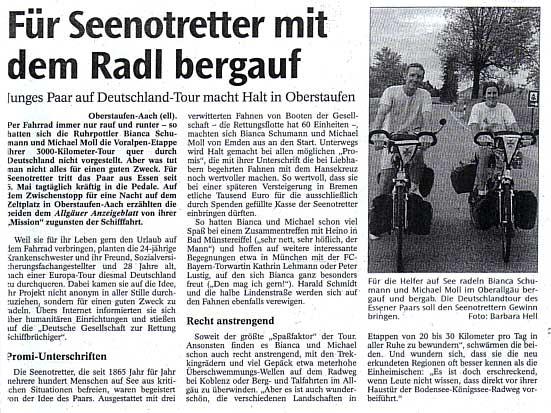 Allgäuer Anzeiger vom 24. Mai 2002