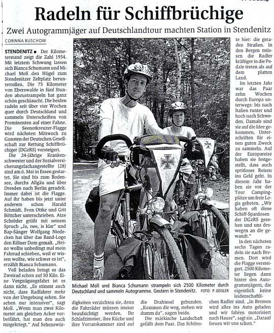 Märkische Allgemeine vom 7. Juni 2002